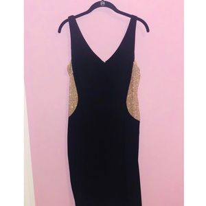 Black Dress with Beaded Sides